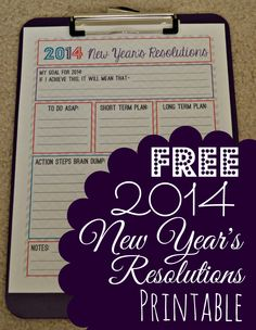 FREE New Years Resolutions Printable - Mama's Got It Together