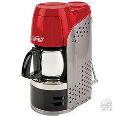Propane powered coffee pot, can go anywhere! A definite must have!