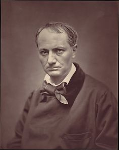 "Étienne Carjat (French, 1828–1906). Charles Baudelaire, ca. 1863. The Metropolitan Museum of Art, New York. The Elisha Whittelsey Collection, The Elisha Whittelsey Fund, 1964 (64.677.4) |   This striking portrait of the brooding poet Charles Baudelaire was published in the series ""Galerie contemporaine, littéraire, artistique,"" which contained 241 portraits of leading figures from the worlds of art, literature, music, science, and politics by a host of Parisian photographers. #paris"
