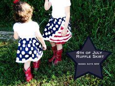 4th of July Ruffle Skirt