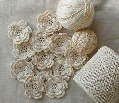 Crochet Flowers and Rick Rack Roses