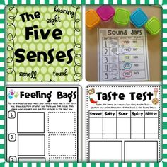 My 5 Senses: This is a fun unit plan with hands on ideas to teach the five senses. Smelly jars, feeling bags, and much more. Plus writing activities to go along with them.  Only $4.50 on teachers pay teachers.