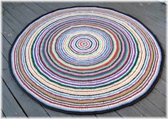 Rag rug made from t shirts
