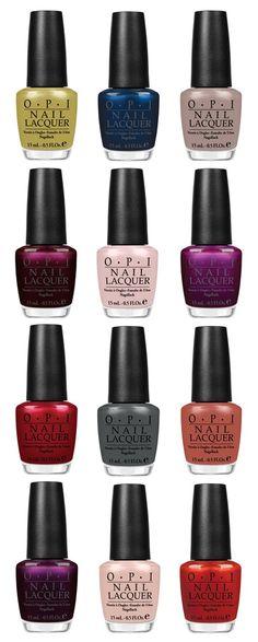 OPI's Fall Nail Polish Colors