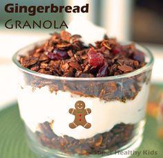 Gingerbread Granola Parfait for Super Healthy Kids