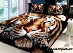 Tiger Pattern 4 Piece Cotton Bedding Sets with Active Printing  Live a better life, start with @beddinginn  http://www.beddinginn.com/product/Realistic-Tiger-Pattern-4-Piece-Cotton-Bedding-Sets-with-Active-Printing-10489972.html