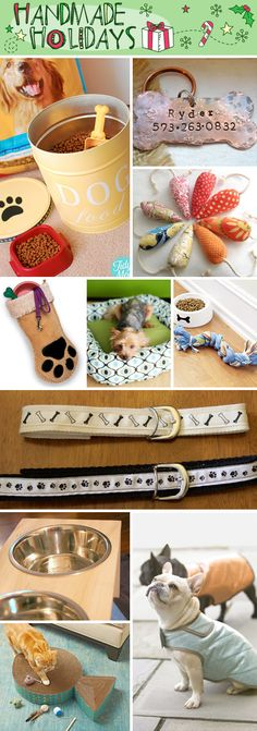 Handmade Gifts For Pets!  Don't forget your furry friends this holiday season… they're part of the family too! Pamper your pets with these adorable handmade gifts.