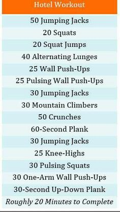 Hotel Workout #Health #Fitness #Travel