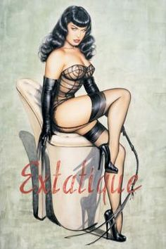 Bettie Page Extatique Poster