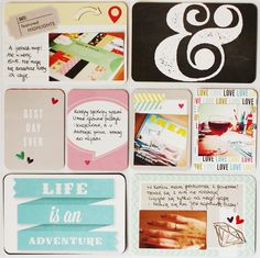 Project Life #8 - Scrapbook.com - Great idea to mount smaller photos on 3x4 cards.