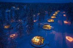 Igloo village in Finland - to see the northern lights