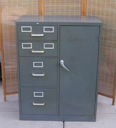 Metal File Cabinets On Pinterest Metal Desk Makeover Filing Cabinet Redo A