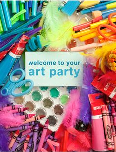 art party, art birthday, art parti, birthday parties, rainbow cakes, birthday idea, craft party, kid parties, parti idea