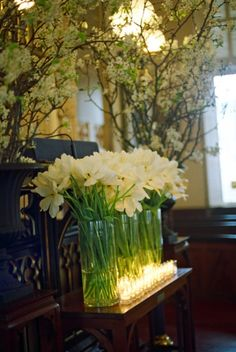flower + candle decor