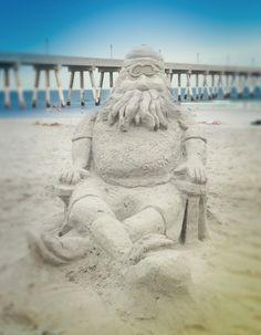 Santa sandcastle | Wilmington, NC and island beaches