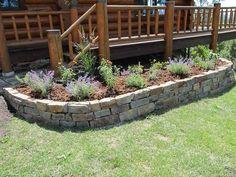raised flower beds stone