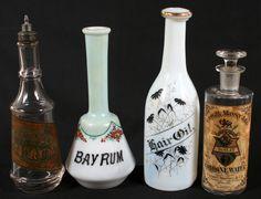 Antique Bay Rum Bottles - if only they were still around ..