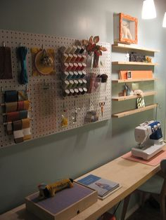 craft room organization... I still like my craft area, but there are some great ideas in here!