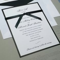 black/white invites