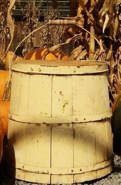 Old old wooden bucket