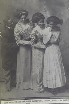 John Merrick, one of the original founders of the North Carolina Mutual Life Insurance Company, with his daughters, Geneva, Mabel, and Martha.