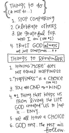 Things to do and not to do.  Love this.