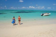 Beautiful beach of Ile aux Cerf on Mauritius