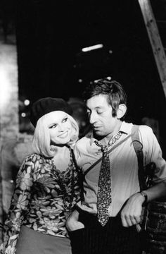 Serge Gainsbourg and Brigitte Bardot as Bonnie  Clyde by Giancarlo Botti