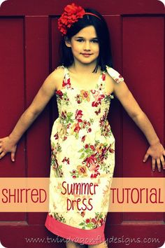 Shirred dress tutorial