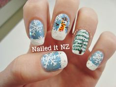 Nailed It NZ: Snowman Nail Art - It's Getting Chilly!