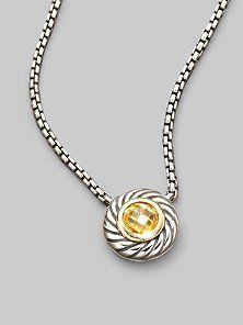 David Yurman Citrine necklace