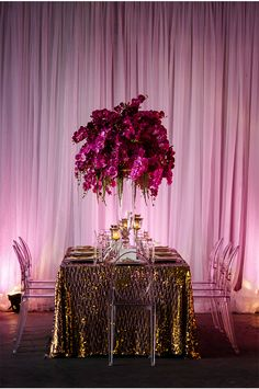 everything about this via StyleUnveiled.com / Radiant Orchid Wedding / Motley Melange