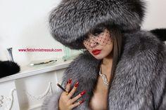 Mistress in Silver Fox Furs cigholds1, window, furs, fox fur, fur goddess, fur hat, fur coat, silver foxes, fur fetish