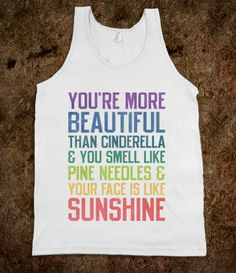 Youre More Beautiful Bridesmaids Quote Tank. wouldn't this be a cute gift for your bridesmaids? ;)
