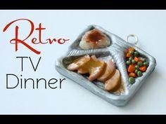 Retro TV Dinner - Clay Miniature Food Tutorial - YouTube