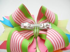 how to attach a french barrette to a bow