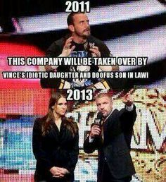 Very true!!! that's why he was laughing last night on Raw near the end. These two are clowns.