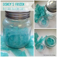 Disney's Frozen Craft -- Blizzard in a Jar - * THE COUNTRY CHIC COTTAGE (DIY, Home Decor, Crafts, Farmhouse)