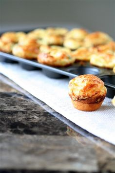 Scallion Gruyere Popovers by The Curvy Carrot