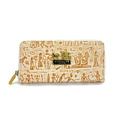 Coach Egyptian Wall Painting Large Khaki Wallets EDS #Coach #Bags