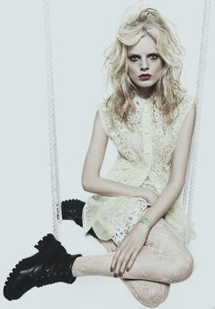 hanne gaby odiele for V magazine march 2012