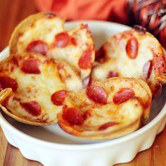 Mini Deep Dish Pizzas