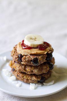 PB Banana Breakfast Chickpea Burgers