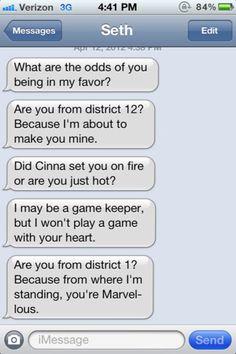 Hunger Games pick-up lines…