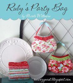 little girls, girl parties, party bags, rubi parti, parti bag, bag tutorials, bag patterns, purse patterns, sewing patterns