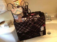 Thirty-one Fold & File as bathroom organizer! www.mythirtyone.com/jessicastott https://www.facebook.com/groups/JessicasTOTEallyAwesomeVIPCustomerPage/