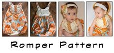 Romper Pattern, only $6 plus pattern for SUPER CUTE HEADBAND.