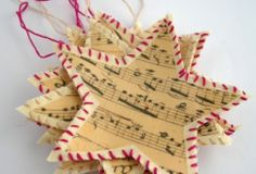 Shabby chic Christmas stars to make