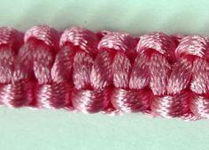 Tutorial per realizzare il nodo piatto macramè o Scoubidou - un nodo molto utile in estate per realizzare braccialetti colorati!