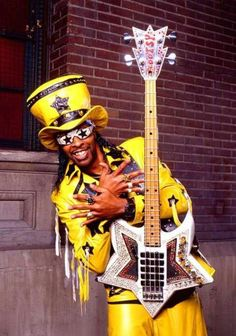Bootsy Collins, Parliament Funkadelic funk bass player and all-around HUGE personality!